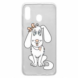 Чехол для Samsung A20 Dog with a bow