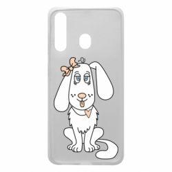 Чехол для Samsung A60 Dog with a bow