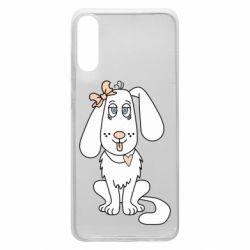 Чехол для Samsung A70 Dog with a bow
