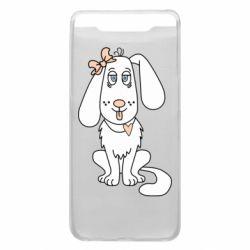 Чехол для Samsung A80 Dog with a bow