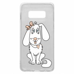 Чехол для Samsung S10e Dog with a bow