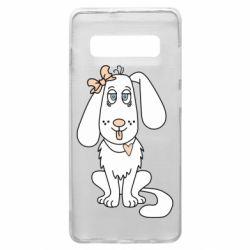 Чехол для Samsung S10+ Dog with a bow
