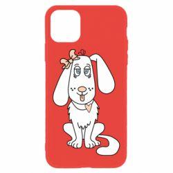 Чехол для iPhone 11 Dog with a bow