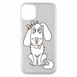 Чехол для iPhone 11 Pro Dog with a bow