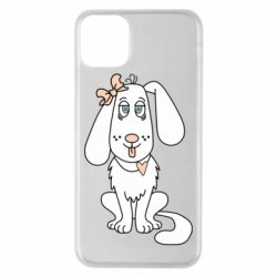 Чехол для iPhone 11 Pro Max Dog with a bow