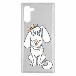 Чехол для Samsung Note 10 Dog with a bow