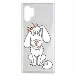 Чехол для Samsung Note 10 Plus Dog with a bow