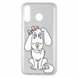 Чехол для Samsung M30 Dog with a bow