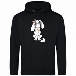 Мужская толстовка Dog with a bow