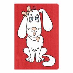 Блокнот А5 Dog with a bow