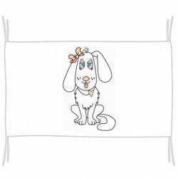Флаг Dog with a bow
