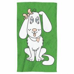 Полотенце Dog with a bow