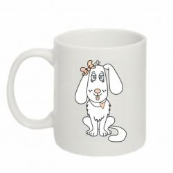 Кружка 320ml Dog with a bow