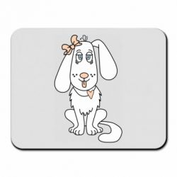 Коврик для мыши Dog with a bow