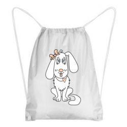 Рюкзак-мешок Dog with a bow
