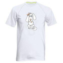 Мужская спортивная футболка Dog with a bow