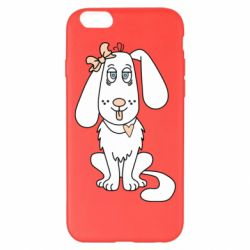 Чехол для iPhone 6 Plus/6S Plus Dog with a bow