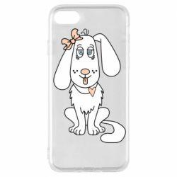 Чехол для iPhone 7 Dog with a bow