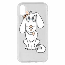 Чехол для iPhone X/Xs Dog with a bow