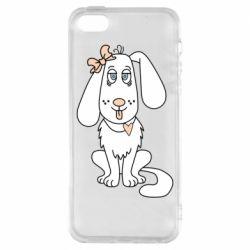 Чехол для iPhone5/5S/SE Dog with a bow