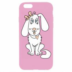 Чехол для iPhone 6/6S Dog with a bow