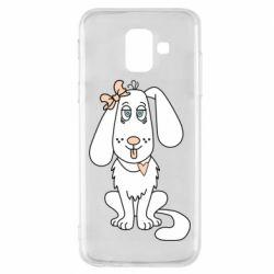 Чехол для Samsung A6 2018 Dog with a bow