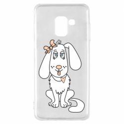 Чехол для Samsung A8 2018 Dog with a bow