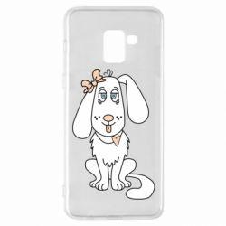 Чехол для Samsung A8+ 2018 Dog with a bow
