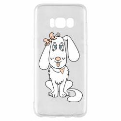 Чехол для Samsung S8 Dog with a bow