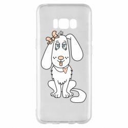 Чехол для Samsung S8+ Dog with a bow