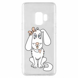 Чехол для Samsung S9 Dog with a bow