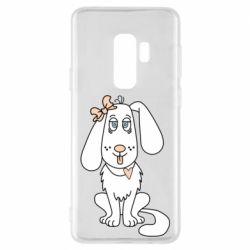 Чехол для Samsung S9+ Dog with a bow