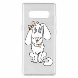 Чехол для Samsung Note 8 Dog with a bow