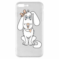 Чехол для iPhone 8 Plus Dog with a bow