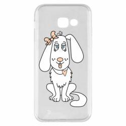 Чехол для Samsung A5 2017 Dog with a bow