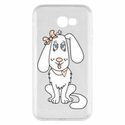 Чехол для Samsung A7 2017 Dog with a bow
