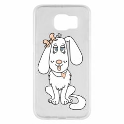 Чехол для Samsung S6 Dog with a bow