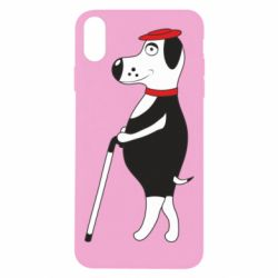 Чехол для iPhone Xs Max Dog with a cane