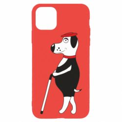 Чехол для iPhone 11 Pro Dog with a cane