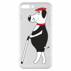 Чехол для iPhone 8 Plus Dog with a cane
