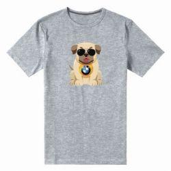Чоловіча стрейчева футболка Dog with a collar BMW