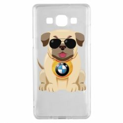 Чохол для Samsung A5 2015 Dog with a collar BMW