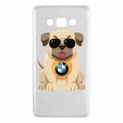 Чохол для Samsung A7 2015 Dog with a collar BMW