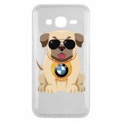 Чохол для Samsung J5 2015 Dog with a collar BMW