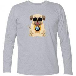 Футболка з довгим рукавом Dog with a collar BMW