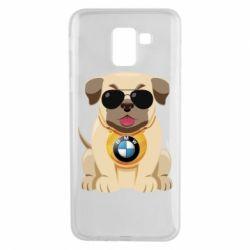 Чохол для Samsung J6 Dog with a collar BMW
