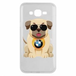Чохол для Samsung J7 2015 Dog with a collar BMW
