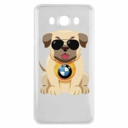 Чохол для Samsung J7 2016 Dog with a collar BMW