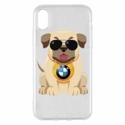 Чохол для iPhone X/Xs Dog with a collar BMW
