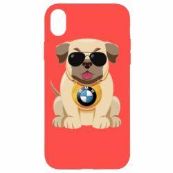 Чохол для iPhone XR Dog with a collar BMW